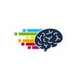 pixel art brain logo icon design vector image vector image
