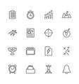planning organization - flat line icons vector image