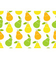 seamless pattern with pear vector image vector image