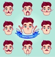 Set of different style mustaches vector image vector image