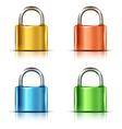 Set of multicolored closed padlocks vector image