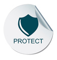 shield a symbol of protection shield vector image
