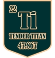 Shield with tender titan text vector image vector image