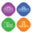 shopping center linear icons vector image vector image