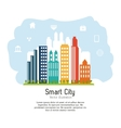 Smart city design Social media icon Technology
