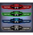 Soccer Live Scoreboard vector image vector image