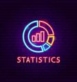 statistics neon label vector image vector image