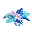 summer isolated flat flower bouquet vector image vector image