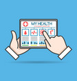 tablet telehealth concept vector image vector image