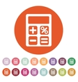 The calculator icon Accounting symbol Flat vector image