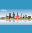 toulouse france city skyline with color buildings vector image