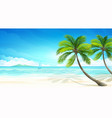 Tropical beach vector | Price: 3 Credits (USD $3)