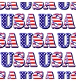 USA sign symbol seamless pattern vector image
