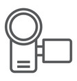 video camera line icon electronic and device vector image