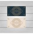 Vintage Ornament wedding invitation design vector image vector image