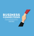 web design about business connections vector image