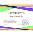 Colorfull certificate vector image