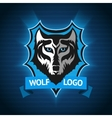 wolf logo badge template for sport teams vector image