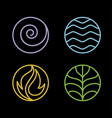 4 element nature vector image
