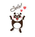 a joyful panda reports a sale vector image