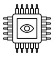 ai processor icon outline style vector image vector image