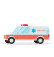 ambulance cartoon flat vector image