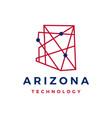 arizona technology geometric polygonal monoline vector image vector image