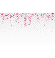 beautiful ribbon and confetti vector image vector image