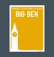 big ben london uk monument landmark brochure flat vector image vector image