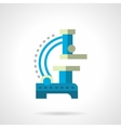 Blue microscope flat color icon vector image vector image