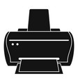 brand printer icon simple style vector image vector image