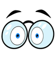 Cartoon Eyes With Glasses vector image vector image