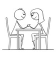 cartoon loving couple man and woman sitting vector image