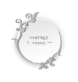 Circle vintage frame template elements vector image vector image