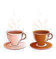 Classic cups vector image vector image