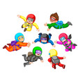 collection of skydiving with different position vector image