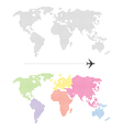Color Dotted World Map vector image