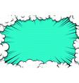 comic book cartoon speech bubble for text vector image