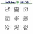 corona virus disease 9 line icon pack suck vector image vector image