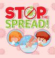 coronavirus poster design with word stop vector image vector image