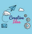 creative ideas set icons vector image vector image