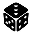 cube casino icon simple black style vector image