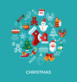 digital merry christmas and winter holidays vector image vector image