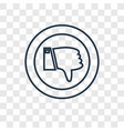 dislike concept linear icon isolated on vector image