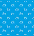 drum kit pattern seamless blue vector image vector image