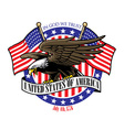 eagle grip usa ribbon sign with flag vector image vector image
