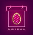 easter egg neon calendar easter calendar vector image vector image