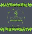 eco leaf background concept vector image vector image