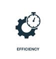 efficiency icon symbol creative sign from vector image vector image