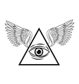 Eye of providence tattoo art design vector image vector image